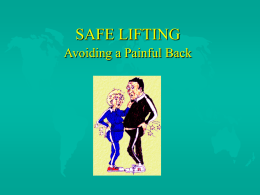 SAFE LIFTING - Oklahoma City Community College
