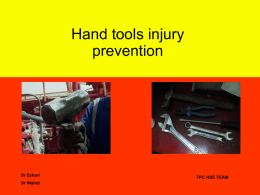 Hand tools and Injury prevention