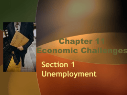 Chapter 11 Economic Challenges