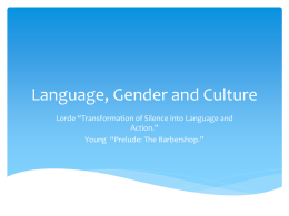 Language, Gender and Culture