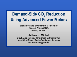 Demand-Side CO2 Reduction Using Advanced Power Meters
