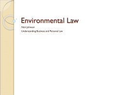 Environmental Law - Loganville High School