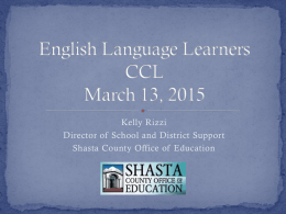 English Language Learners CCL March 13, 2015