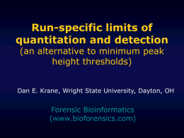 Run-specific limits of quantitation and detection (an