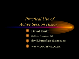 Practical Use of Active Session History - Go