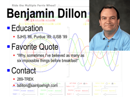 Mr. Benjamin Dillon - St. Joseph High School
