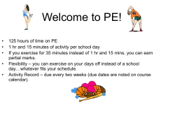 Welcome to PE!