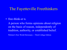 The Fayetteville Freethinkers