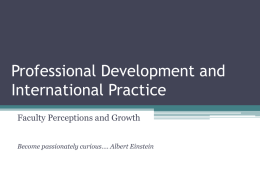 Professional Development and Practice