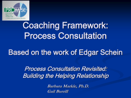 Coaching Framework: Process Consultation