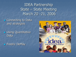IDEA Partnership State – State Meeting
