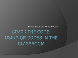 Crack the code: using qr codes in the classroom
