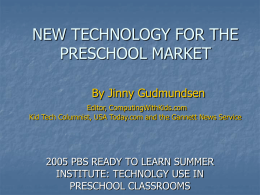 NEW TECHNOLOGY COMING ON THE MARKET By Jinny …