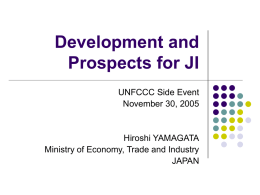 Development and Prospects for JI