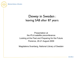 DDC in Scandinavia : exploring new translation models of