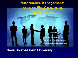 Performance Management: Focus on Performance Appraisals