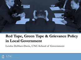 Effective Grievance Procedures in Local Government
