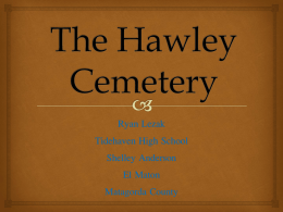 The Hawley cemetery