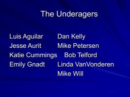 The Underagers