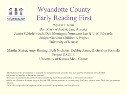 Wyandotte County Early Reading First