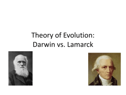 Theory of Evolution: Darwin vs. Lamarck