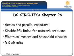 DC Circuits - San Jose State University