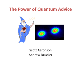 The Power of Quantum Advice
