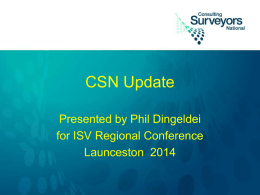 CSN Update - Phil Dingeldei