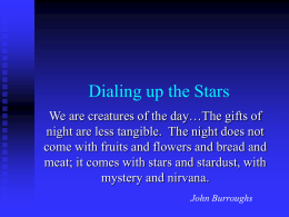 Dialing up the Stars