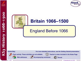 1. England Before 1066