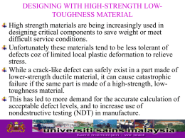 DESIGNING WITH HIGH-STRENGTH LOW
