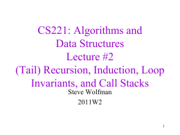 CSE 326: Data Structures Lecture #2 measuring hOw fast