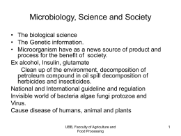 Microbiology, Science and Society