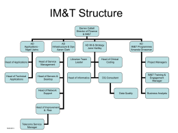 IM&T Structure - Heatherwood and Wexham