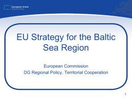 EU Strategy for the Baltic Sea Region Launch Event, Capital XX