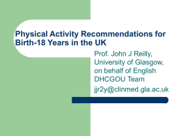Guidelines on Physical Activity and Sedentary Behaviour
