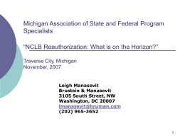 Michigan Association of State and Federal Program