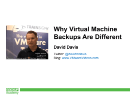 RoughDraft-DD-Backup Academy - Why virtual machine backups
