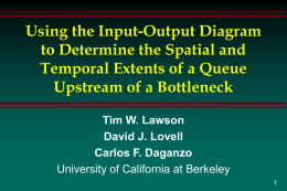 Using the Input-Output Diagram to Determine the Spatial