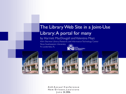 The Library Web Site in a Joint