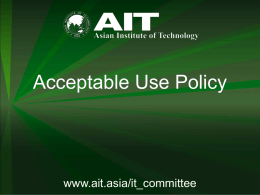 ITServ services - Asian Institute of Technology