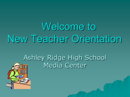 Orientation - Ashley Ridge High School