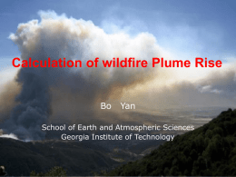 Plume Rise Calculation of wildfire