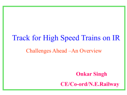 Track for High Speed Trains