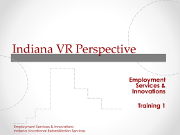 Indiana VR Corporate Development Perspective
