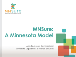 MNSURE: A Minnesota Model