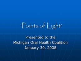 'Points of Light' - Michigan Oral Health Coalition