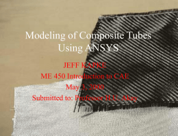 Model of Composite Tube Using ANSYS