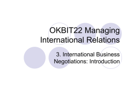 OKBIT22 Managing International Relations