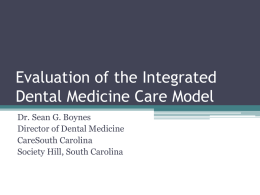 The Integrated Dental Medicine Model for Diabetic Care
